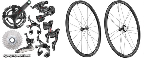 Campagnolo Super Record Rim Ergo 12 Speed Groupset with Bora WTO 33 Wheelset
