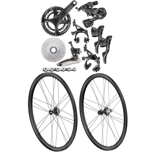 Campagnolo Super Record Rim Ergo 12 Speed Groupset with Bora WTO 33 Wheelset - 500