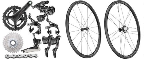 Campagnolo Record Rim Ergo 12 Speed Groupset with a WTO 33 Wheelset