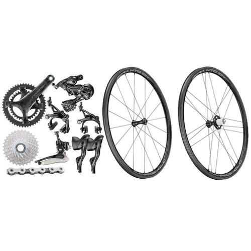 Campagnolo Record Rim Ergo 12 Speed Groupset with Wheelset - 500