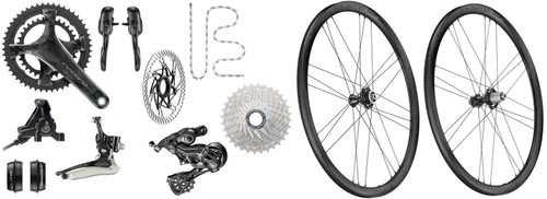Campagnolo Record Hydraulic Ergo 12 Speed Groupset with a Bora WTO 33 Disc-brake Wheelset