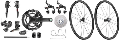 Campagnolo Super Record EPS V4 12 Speed Groupset with Bora WTO 33 Wheelset