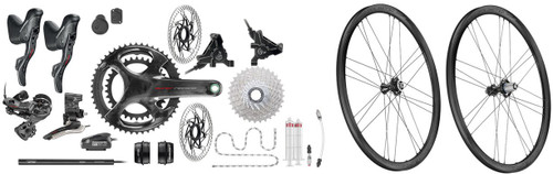 Campagnolo Super Record Hydraulic Flat Mount EPS 12 Speed Groupset with Bora WTO 33 Disc-brake Wheelset