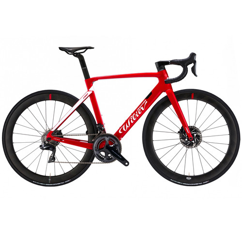 Wilier Disc SRAM 22 Hydraulic equipped Carbon Bicycle, Red & White - Build It Your Way-500