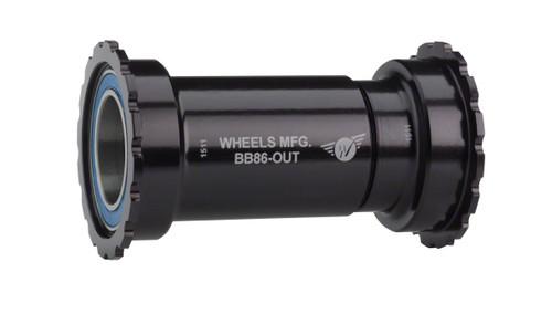 Wheels Manufacturing PressFit 30 to Shimano Bottom Bracket ABEC-3 Bearings Black