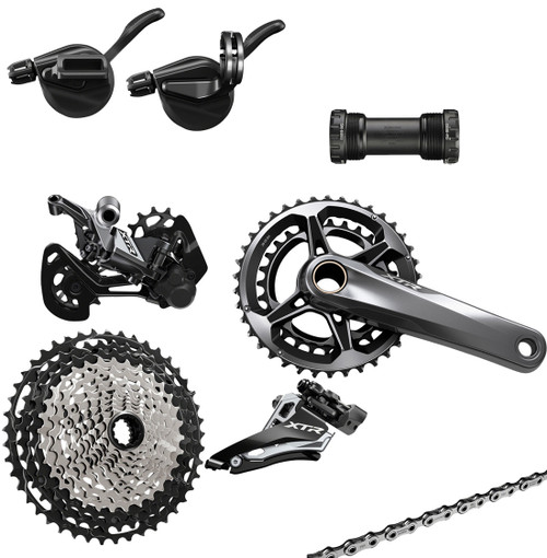 Shimano XTR M9100 or M9120 12 Speed Groupset, 2 x Chainrings (less brake levers & calipers)