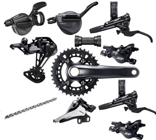 Shimano Deore XT M8100 | M8120 2x12 Speed Groupset (less cassette)