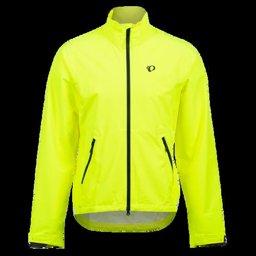 Pearl izumi Monsoon WxB Men's Jacket, Screaming Yellow / Phantom, Front