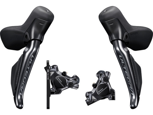 Shimano Ultegra ST-R8170 Hydraulic Di2 Levers, Hoses and BR-8170 Flat Mount Brake Calipers