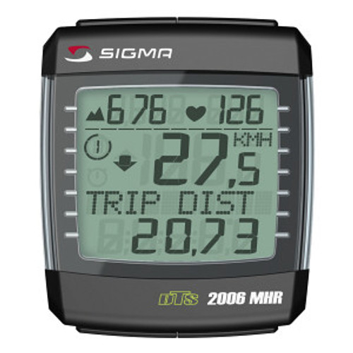 Sigma Sport BC 2006 DTS with Speed  Altitude and Heart Rate Computer