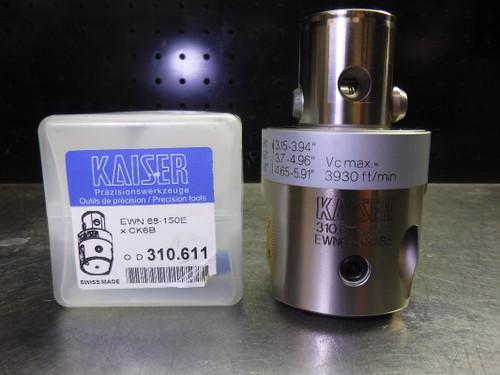 """Kaiser KAB6 Finish Boring Head 2.68"""" - 5.91"""" Range 10.310.611 (LOC2801B)"""