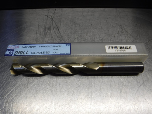 Nachi SG Oil Hole 5D 16.5mm HSS Drill 16.5mm Shank 16.5 L7596P (LOC1368A)