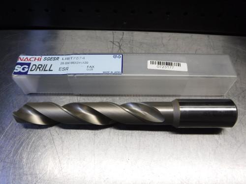 Nachi SG 25.5mm HSS Jobber Drill 32mm Shank 25.5X165X241X32 (LOC870)
