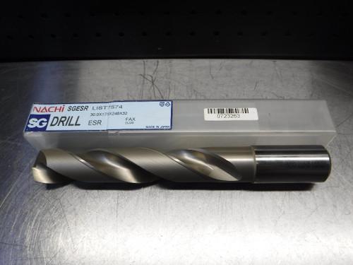 Nachi SGESR 30mm HSS Drill 32mm Shank 30.0x175x248x32 (LOC1368A)