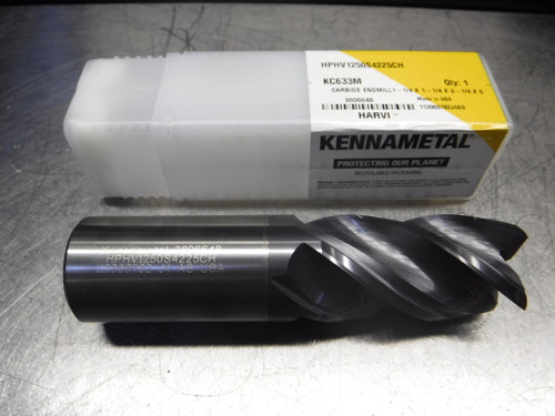 "Kennametal 1.250"" 4 Flute Carbide Endmill HPHV1250S4225CH KC633M (LOC2151A)"