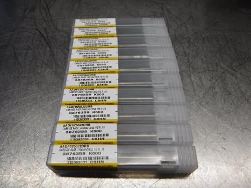 """Kennametal Carbide 2 Flute Endmill 1/4"""" Shank QTY10 AADF0250J2DRB K600 (LOC1579)"""