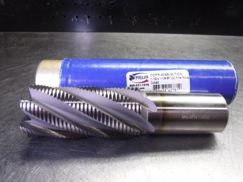 """MELIN 1.5"""" Cobalt Fine Roughing Endmill 6 Flute CCFP-4048-M-TiCN (LOC2356)"""