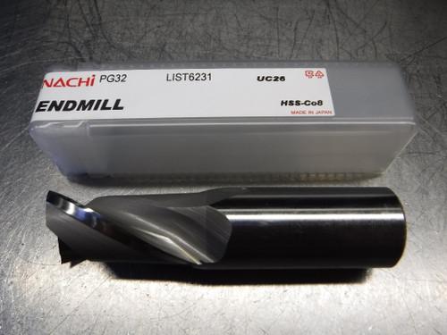 "Nachi 1"" 2 Flute HSS Endmill 1"" Shank PG32 1"" L6231 (LOC1975B)"