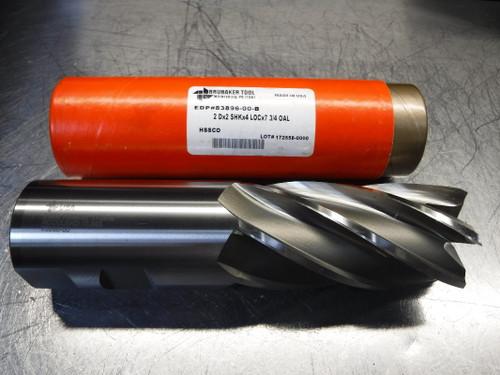 """Brubaker Tool 2"""" HSS 6 Flute Endmill 2 Dx2 SHKx4 LOCx7 3/4 OAL (LOC1253D)"""