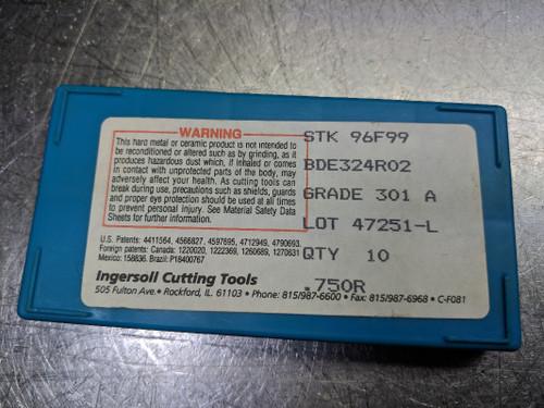 Ingersoll Cermet Insert Qty: 10 BDE324R02 301 A (LOC1155B)