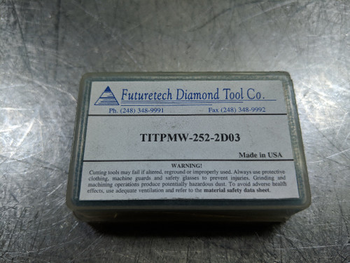 Futuretech PCD Carbide Insert QTY2 TITPMW 252-2 D03  (LOC558B)
