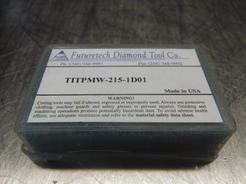 Futuretech PCD Carbide Inserts QTY2 TITPMW-215-1D01 (LOC894)