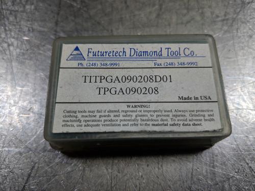 Futuretech PCD Carbide Insert QTY2 TITPGA090208 / TPGA090208D01 (LOC558B)