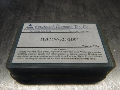 Futuretech PCD Carbide Inserts QTY2 TISPMW-325-2D04 (LOC887)