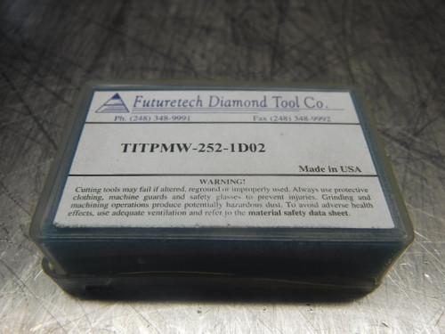 Futuretech PCD Carbide Inserts QTY2 TITPMW-252-1D02 (LOC894)