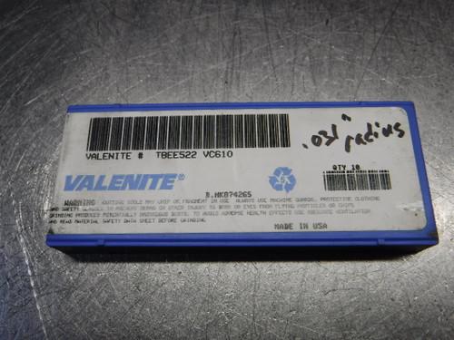Valenite Cermet Inserts QTY10 TBEE522 VC610 (LOC2971B)