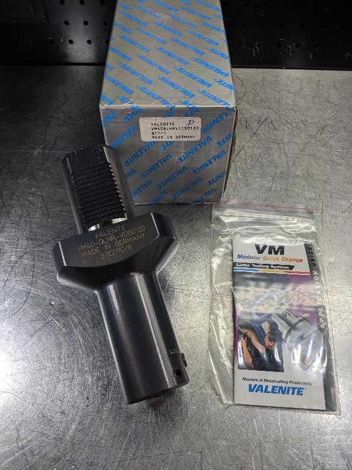 Valenite VDI50 to VM40 / KM40 Clamping Unit VM40QLNRVDI50120 (LOC3023B)