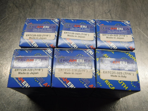 ERI America ERTC25 Tapping Collets Lot of 6 Two sizes Included (LOC2992B)
