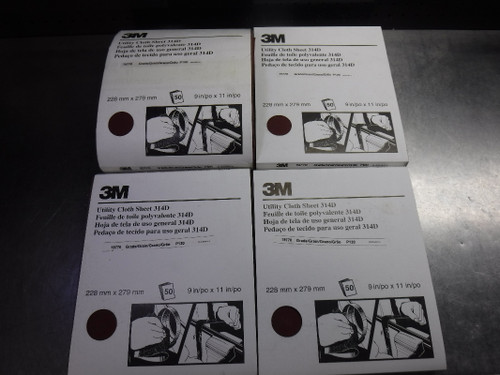 3M Utility Cloth Sheet 314D Grade P120 19770 (LOC1614)