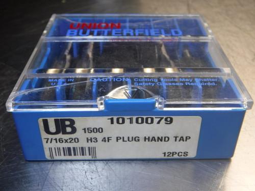 """Union Butterfield 7/16""""x20 H3 4F PLUG Hand TAP HSS QTY11 (LOC1070A)"""