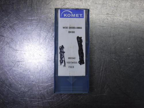 Komet Carbide Inserts QTY8 W30 26060.0860 BK60 (LOC2177)