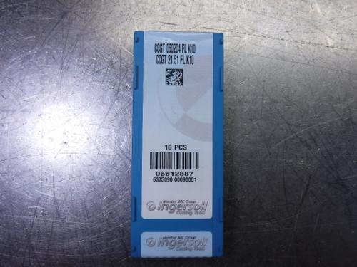 Ingersoll Carbide Inserts QTY8 CCGT 060204 FL K10 / CCGT 21.51 FL K10 (LOC2177)