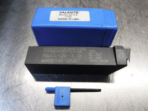 """Valenite 1.25"""" x 1.25"""" Indexable Lathe Tool Holder SDJCL-20-3 D (LOC1018C)"""