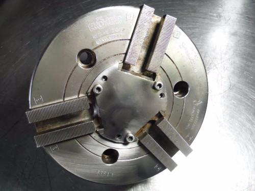 """Rohm 8"""" 3 Jaw Kitagawa Style Hydraulic Power Lathe Chuck KFD HE 210 3 (LOC1266A)"""