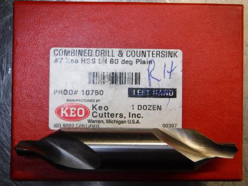 """KEO Cutters Drill/Countersink, 60° #7, 5/8"""", RH HSS 10700 QTY12 (LOC1091A)"""