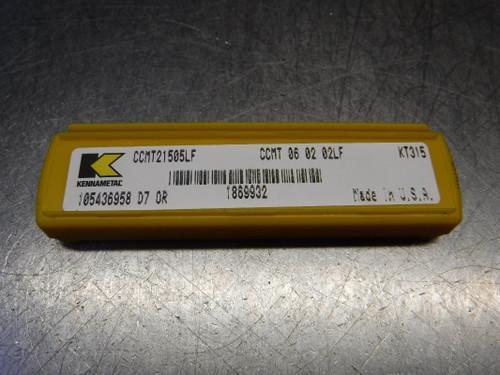 Kennametal Cermet Turning Inserts QTY5 CCMT21505LF/CCMT060202LF KT315 (LOC1009B)