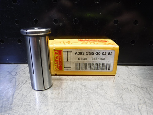 "Sandvik Hydraulic Collet Chuck 1/8"" ID 20mm OD A393.CGS-20 02 52 (LOC2858D)"