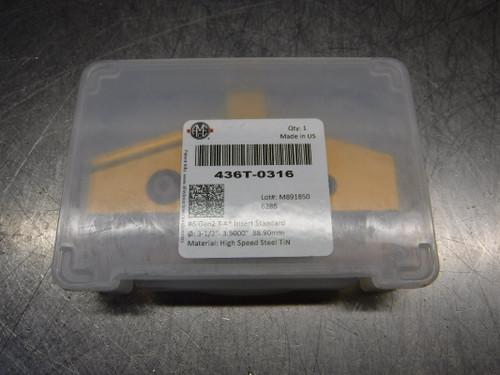 """AMEC T-A #6 3.5"""" HSS Spade Drill Insert QTY1 436T-0316 (LOC232)"""