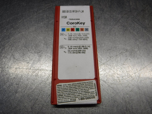 Sandvik Carbide Inserts QTY10 880-08 05 W10H-P-LM H13A (LOC2819A)