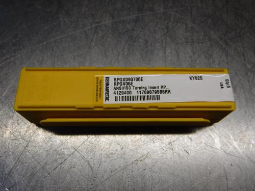 Kennametal Ceramic Inserts QTY5 RPGV35E / RPGX090700E KYS25 (LOC3113D)