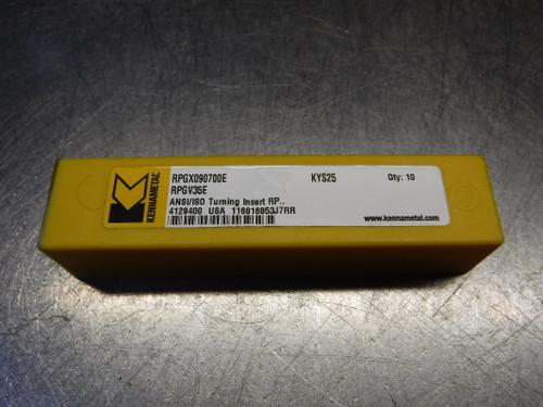 Kennametal Ceramic Inserts QTY10 RPGX090700E / RPGV35E KYS25 (LOC3113D)