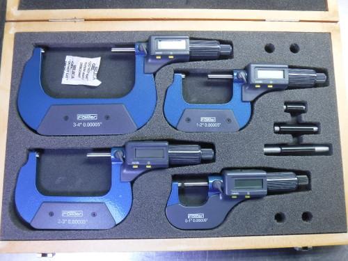 "Fowler 0-4"" Electronic Outside Micrometer Set 54-850-104 (LOC2754B)"