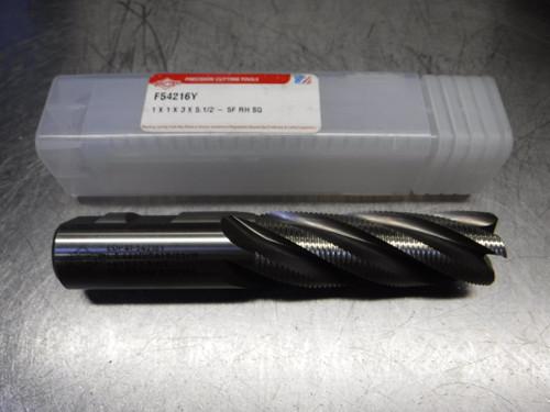 "PCT 1"" 5 Flute Cobalt Roughing Endmill 1"" Shank 1x1x3x5.1/2-5F RH SQ (LOC1953D)"