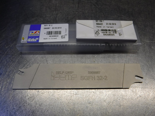 """Iscar 0.071""""-0.106"""" Indexable Parting/Grooving Blade SGFH 32-2 (LOC1801A)"""