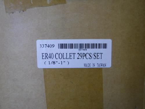"""GS ER40 29 pcs Collet Set (1/8"""" - 1"""") 337409 (LOC2706B)"""