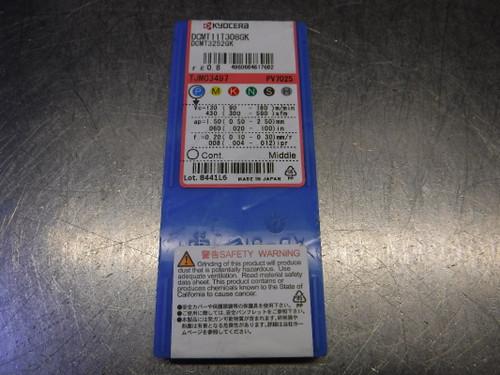 Kyocera Ceratip Cermet Inserts QTY10 DCMT11T308GK / DCMT3252GK PV7025 (LOC953B)